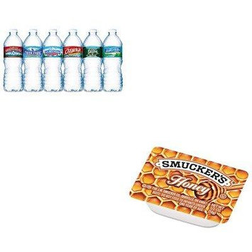 KITNLE101243SMU763 - Value Kit - Smucker's Honey (SMU763) and Nestle Bottled Spring Water (NLE101243)