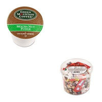 KITGMT6752CTOFX00013 - Value Kit - Green Mountain Coffee Roasters Mocha Nut Fudge Coffee K-Cups (GMT6752CT) and Office Snax Soft amp;amp; Chewy Mix (OFX00013)