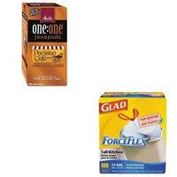 KITCOX70427MLA75424 - Value Kit - Melitta One:One Coffee Pods (MLA75424) and Glad ForceFlex Tall-Kitchen Drawstring Bags (COX70427)