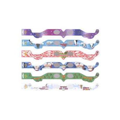 Holiday Specs Assorted One Size Fits All Paper 3D Christmas Glasses 0172014LO