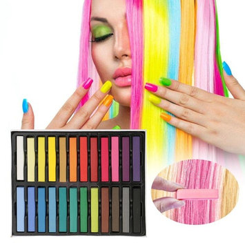 Hair Chalk Set 24 Color Temporary Hair Pastels Rainbow Colored Non-Toxic For Kids Hair Dyeing Party and Cosplay DIY Gifts Present for 4 5 6 7 8 9 10 Years Old Girls