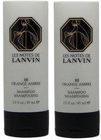 Les Notes de Lanvin Orange Ambre Shampoo Lot of 2 Bottles. Total of 3oz. (Pack of 2)