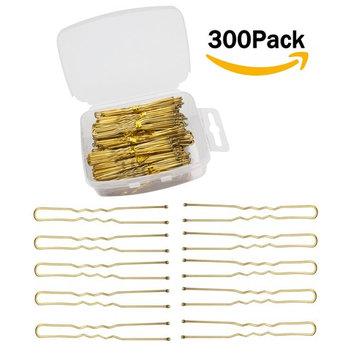 Velscrun 300 Pack U Shaped Hair Pins Bun Hair Pins Metal Bobby Pins Hair Clips for Hair Decoration (G