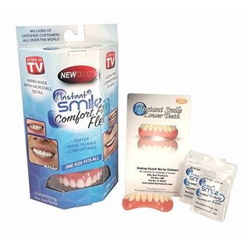Instant Smile Comfort Fit Flex Teeth Veneer Uppers and Lowers w\ 2 extra
