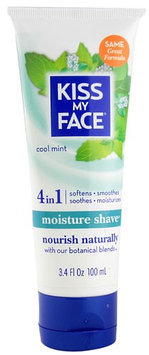 Kiss My Face 0605451 Moisture Shave Cool Mint - 3.4 fl oz