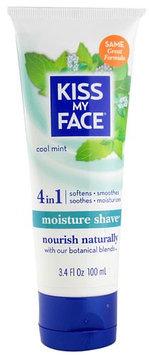 Kiss My Face 0605451 Moisture Shave Cool Mint - 3.4 fl oz