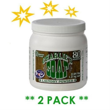 CHARLIE'S SOAP, LAUNDRY,100 LOAD,POWDER 2.64 LB(Pack of 2)