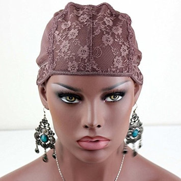 Rossy&Nancy Brown Classic Wig Liner Cap Hairstyles Different Durable Lace for Saperate Sections of Head