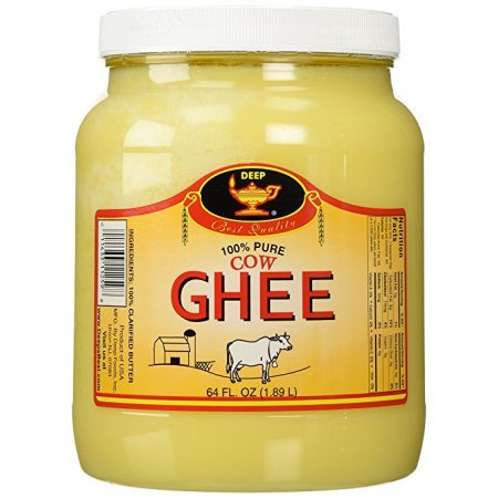 Deep Pure Cow Ghee Clarified Butter from India, 64 Ounce