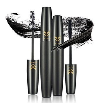 PIXNOR 3D Mascara Cream Mascara Tube Eyelashes Cream Set With Black Paste and Black Dry Fiber