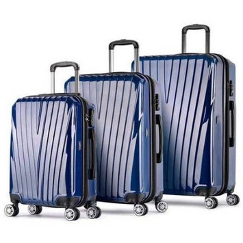 Proht Powered By Inland ProHT AnyWhere 3-Piece Hardside Luggage Set, 28 Inch, 24 Inch and 20 Inch Set, ABS + PC, TSA Locks