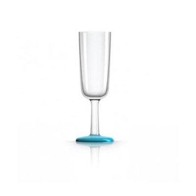 Marc Newson PM853 Flute Glass Vivid Nonslip Base Blue
