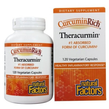 Natural Factors - CurcuminRich Theracurmin 30 mg. - 120 Vegetarian Capsules
