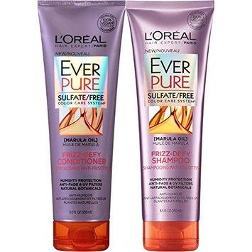L'Oreal Paris EverPure Frizz-defy Bundle: Shampoo & Conditioner, 8.5 Ounce Each