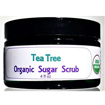 Flowersong Tea Tree Organic Sugar Scrub - Soften, Moisturize and Exfoliate in One Step