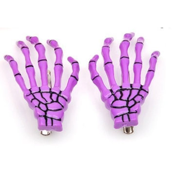 Fashion Skeleton Hand Bone Hair Clip (Purple)