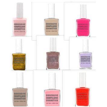 Obsessive Compulsive Cosmetics OCC Nail Lacquer Nail Polish, 9 Full Size Pack, Full Size