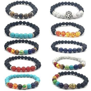 FANCER 10 PACK Healing Bracelet with Volcanic Stones