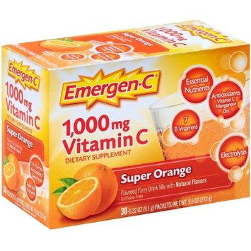 Emergen-C Vitamin C Flavored Fizzy Drink Mix Packets, Super Orange 30 ea