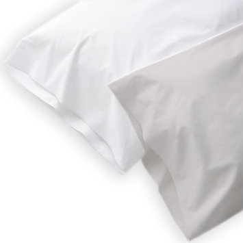 TERRA Conventional Pillowcases Tencel-Color:Pearl White,Quantity:1 pair,Size:King