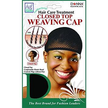 (PACK OF 12) DONNA ANTIBACTERIAL AG NANO CLOSED TOP WEAVING CAP #22310 BLACK: Beauty