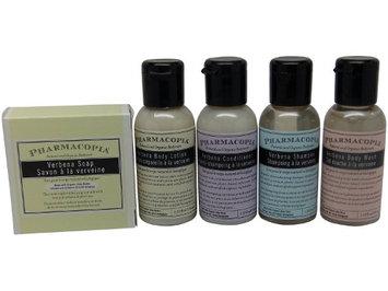 Pharmacopia Verbena Travel Set Shampoo Conditioner Lotion Body Wash & Soap