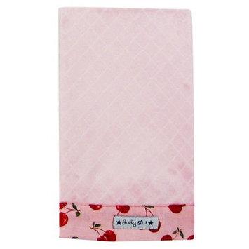 Baby Star Diamond Diaper Burp - Pink Cherry