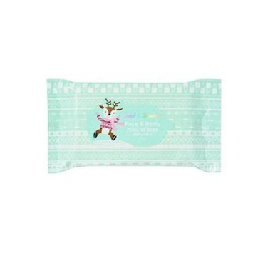 Sweet & Shimmer Face & Body Mini Wipes, Merry Mint, 15ct