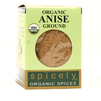 Spicely Organic Anise Powder 0.45 Ounce ecoBox Certified Gluten-Free