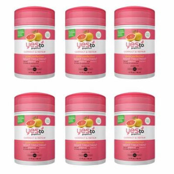 Yes To Grapefruit correct and repair pore perfection night treatment 1.7 oz (6 Pack)
