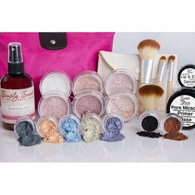 IMPULSE KIT Full Size Mineral Makeup Set Matte Foundation Bare Face Sheer Powder Cover (Light)