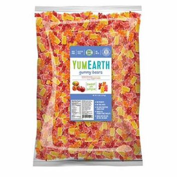 YumEarth, Assorted Flavors Gummy Bears Bulk Candy, 5 Lb