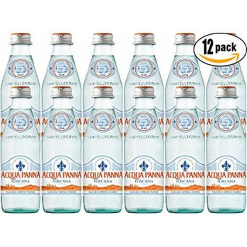 Acqua Panna Toscana Spring Water, 8.8oz Glass Bottle (Pack of 12)