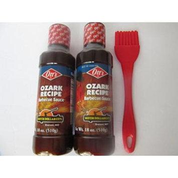 Otts Ozark BBQ Sauce Silverdollar City Barbecue (2pk) 18oz each w/brush Beef Pork Poultry
