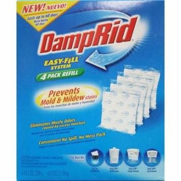 DampRid FG92 Moisture Absorber Easy-Fill System Refill, 4-10.5-Ounce Packets