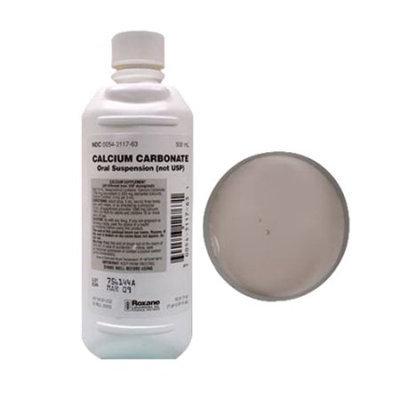 Calcium Carbonate Oral Suspension (Not Usp) 1250Mg Calcium Supplement Liquid By Roxane Labs - 500 Ml
