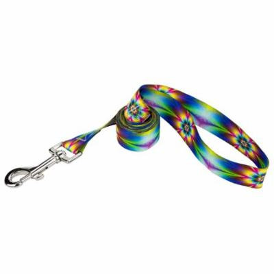 Country Brook Petz® 1/2 Inch Tie Dye Flowers Featherweight Dog Leash - 6 Foot