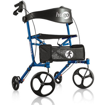 Hugo Sidekick Side-Folding Rollator Walker With Seat, Blueberry
