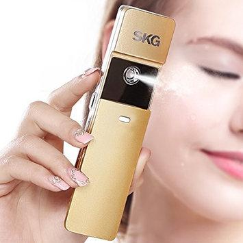 SKG Premium Handheld Nano Ionic Cool Mist Face Hydration Sprayer - Handy Face Moisturizing Eyelash Extensions - Portable USB Face Moisture Facial Spray Beauty Instrument (Golden, 1-Minute Timer)