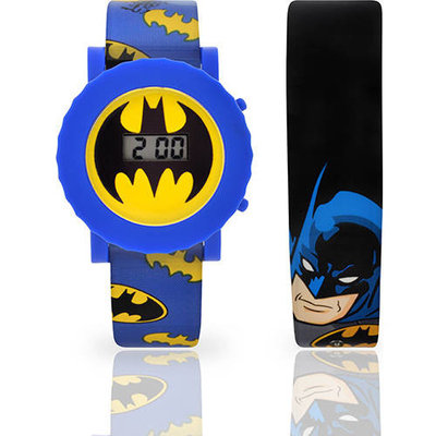 Kids' Batman Interchangeable Strap Flashing LCD Watch