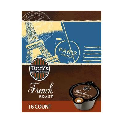 64 Count, Tully's French Roast VUE Packs For Keurig Vue Brewers (4 - 16 ct VUE Pack)