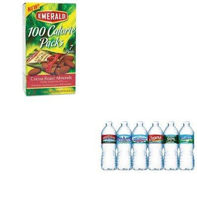 KITDFD84325NLE101243 - Value Kit - Emerald 100 Calorie Pack Dark Chocolate Cocoa Roast Almonds (DFD84325) and Nestle Bottled Spring Water (NLE101243)