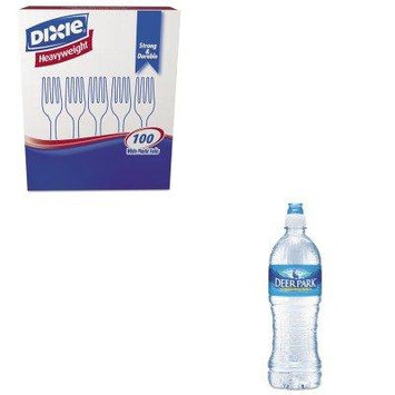 KITDXEFH207NLE828453 - Value Kit - Deer Park Natural Spring Water (NLE828453) and Dixie Plastic Cutlery (DXEFH207)