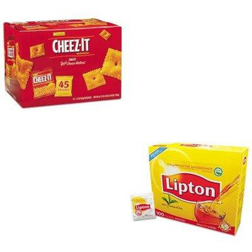 KITKEB827553LIP291 - Value Kit - Sunshine Cheez-it Crackers (KEB827553) and Lipton Tea Bags (LIP291)