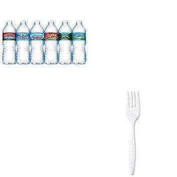 KITDXEPFM21NLE101243 - Value Kit - Dixie Plastic Cutlery (DXEPFM21) and Nestle Bottled Spring Water (NLE101243)