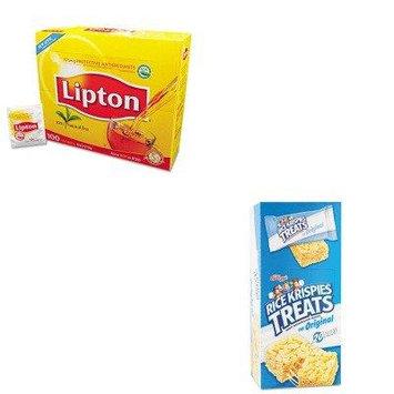 KITKEB26547LIP291 - Value Kit - Kellogg's Rice Krispies Treats (KEB26547) and Lipton Tea Bags (LIP291)