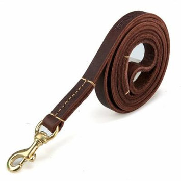 Ancheer Adjustable Leather Training Walking Lead Strap Dog Leash With Shovel HDPML