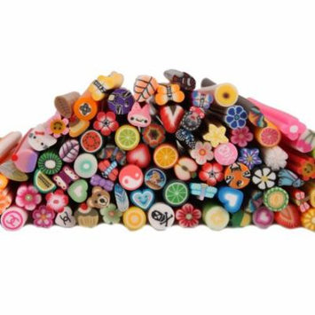 100pcs 3D Designs Cute Nail Art Manicure Fimo Canes Sticks Rods Stickers Decoration, Ship from America