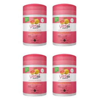 Yes To Grapefruit correct and repair pore perfection night treatment 1.7 oz (4 Pack)