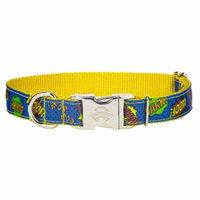 Country Brook Design® Premium Blue Super Dog Ribbon Dog Collar